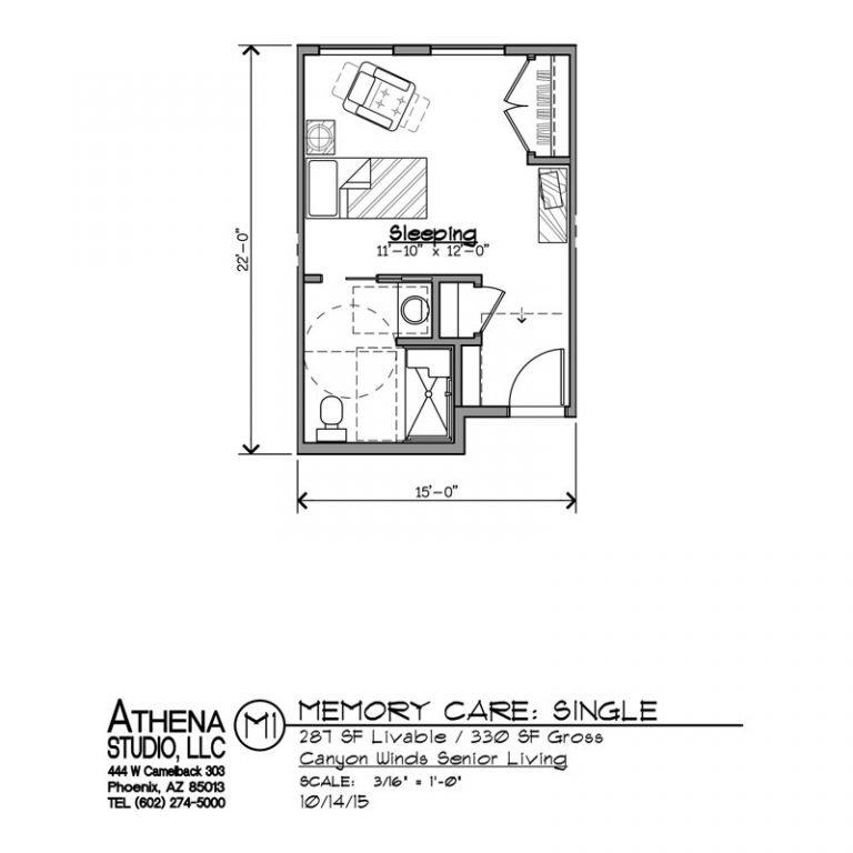 Memory Care Unit - 1 Bedroom