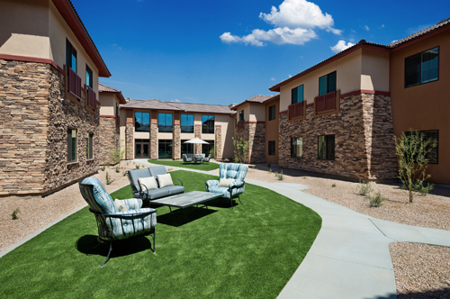 Independent Living Community - Courtyard Area